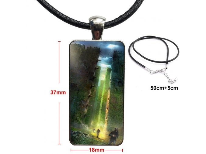The Maze Runner Thomas Sangster Dylan Fashion Glass Cabochon Pendant Rectangle Necklace Choker Necklace Jewelry For (1)