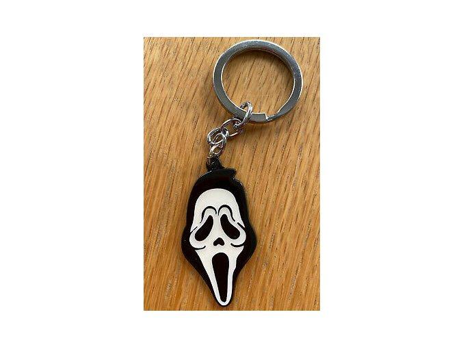 SCREAM Ghostface Enamel Keyring Horror Movie