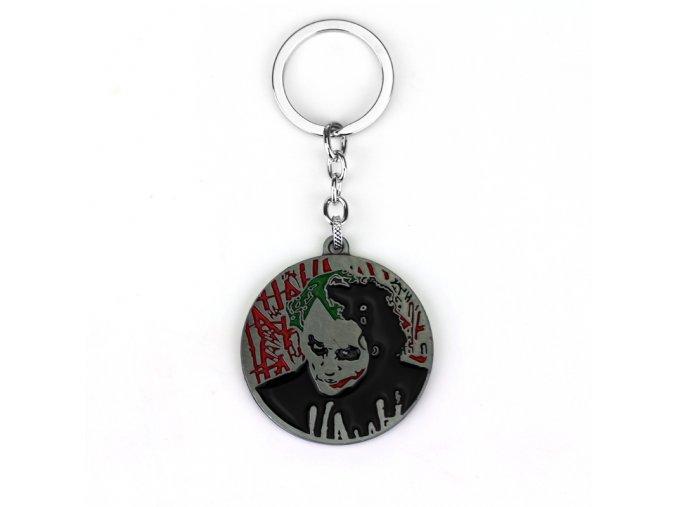 Movie DC Comic The Dark Knight Batman Keychain Supervillain Joker Horror Face Logo Pendant Key Chain
