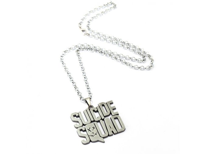 New Arrivals Suicide Squad letter logo Pendant Necklace High Quality Women And Men Jewelry Movie