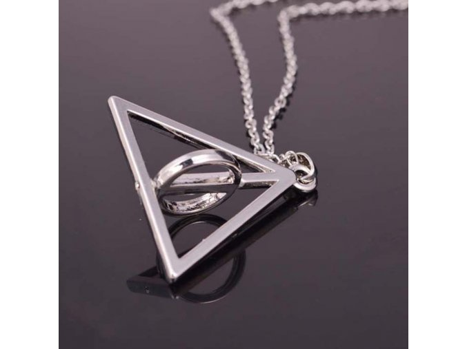 Hearts Q Jewelry Deathly Hallows Stainless Steel font b Triangle b font Circle Necklace font b