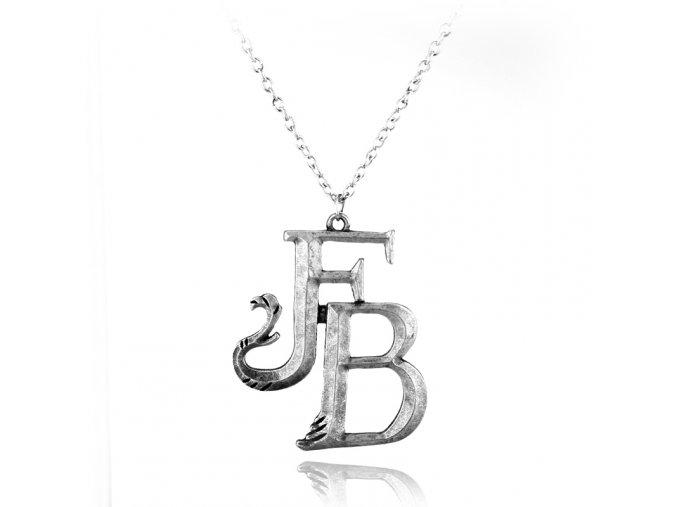 Fantastic font b Beasts b font FB Logo font b Movie b font Pendant Necklace Silver
