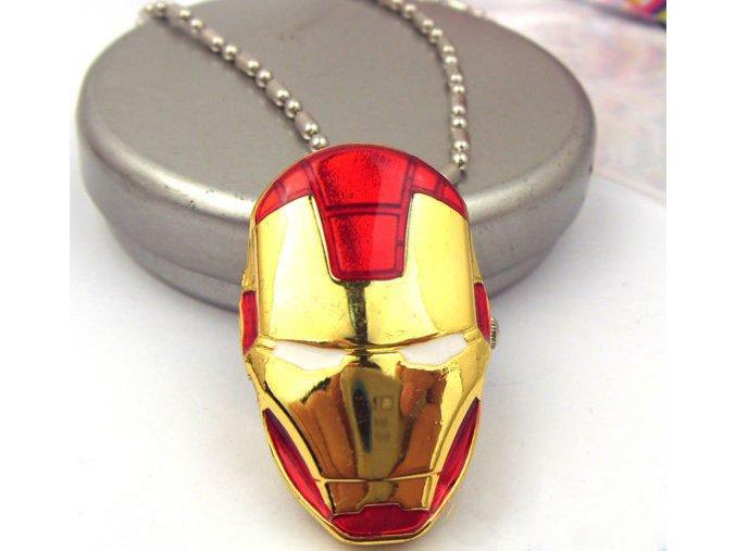 Hot iron man movie superhero pocket watch necklace avengers alloy necklace pendant watch mask helmet 12pcs
