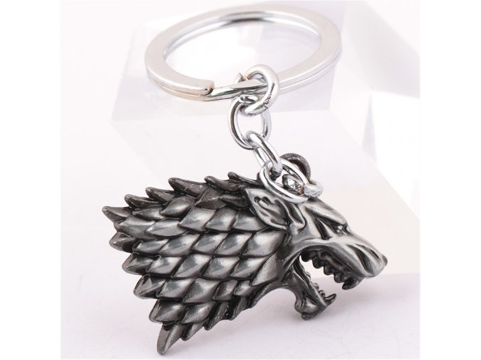 Game of Thrones Shield Metal A Song of Ice Fire Stark family crests Keychain Pendant Key