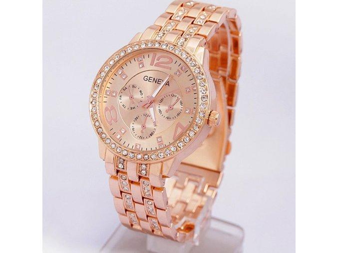 Geneva dámske náramkové hodinky ružové