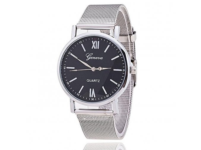 new style geneva mesh watch silver band women wristwatch quartz watches casual relogio feminino