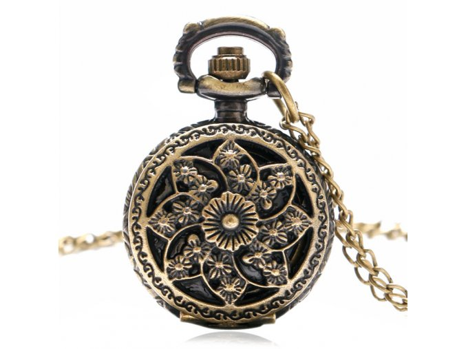small vintage bronze windmill font b beautiful b font flowers pendant necklace bracelet font b pocket