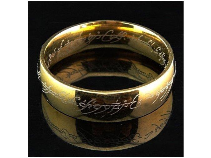 Prsteň- Pán prsteňov pozlatený