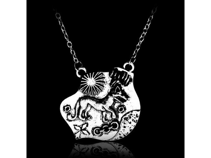 font b Teen b font Wolf necklace Triskele Triskelion Allison Argent vintage antique silver pendant