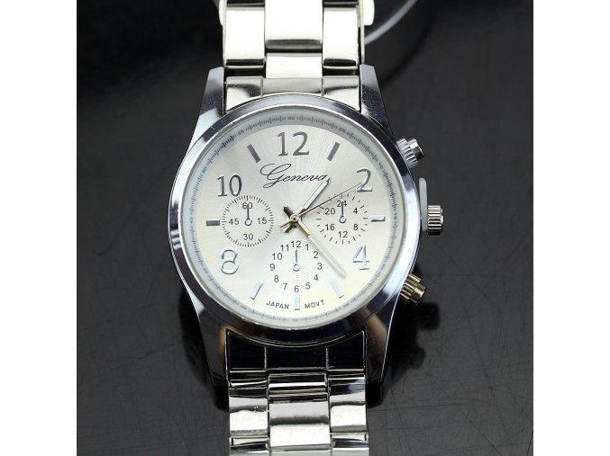 Geneva dámske hodinky strieborné