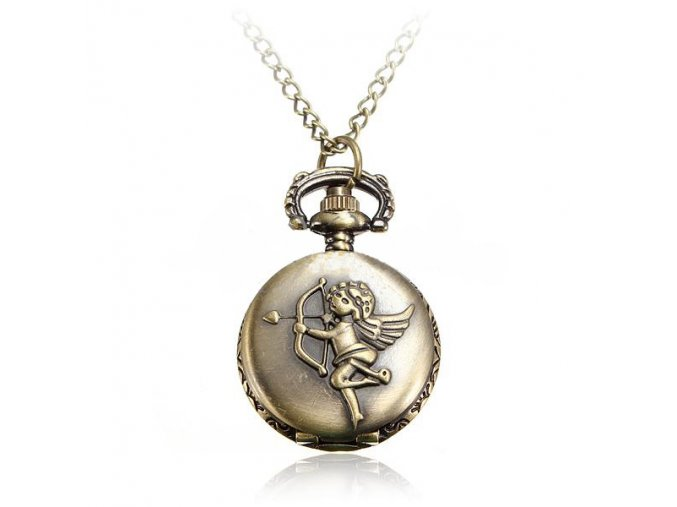 Vreckové hodinky Anjel bronzové