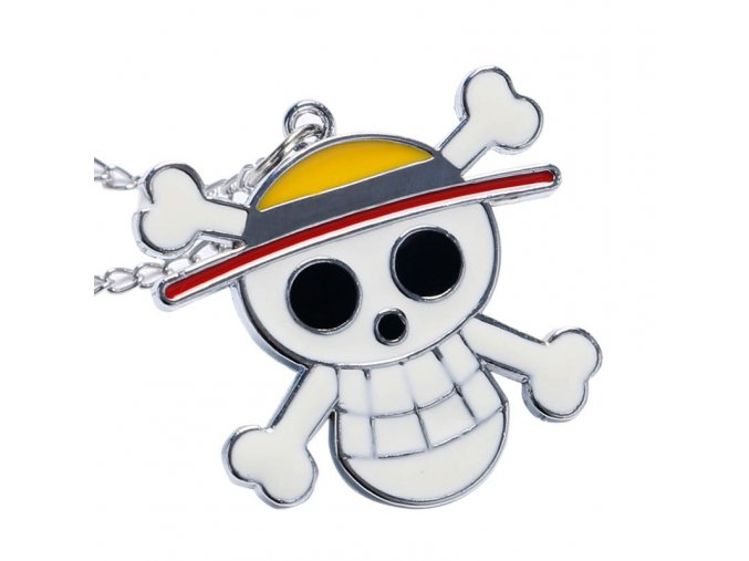 Cute Pirate Skull font b One b font font b Piece b font Quartz Pocket Necklace