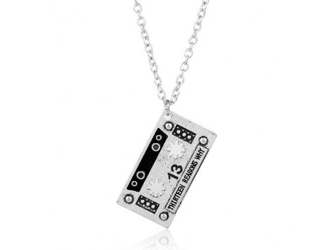 dongsheng Fashion Creative 13 Thirteen Reasons Why Pendant Necklace Punk Tape Alloy Statement Necklace Men Women.jpg 640x640