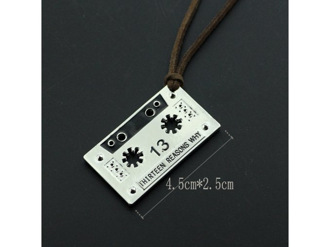 wholesale US TV series jewelry 13 Thirteen Reasons Why necklace tape choker Men and women jewelry (1)