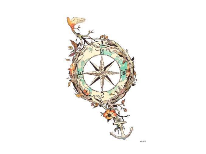 vtak a kompas