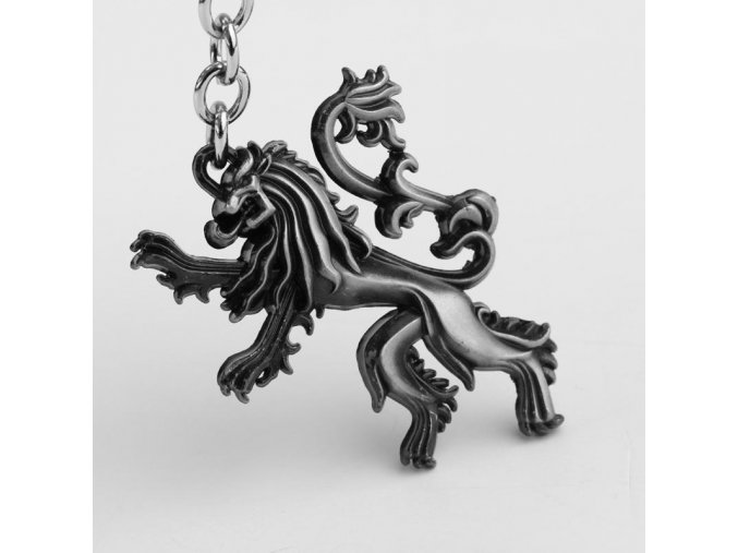 HBO Game of Thrones Family crest House Lannister 3D silver 5cm Metal Keychain Ring Hot gift