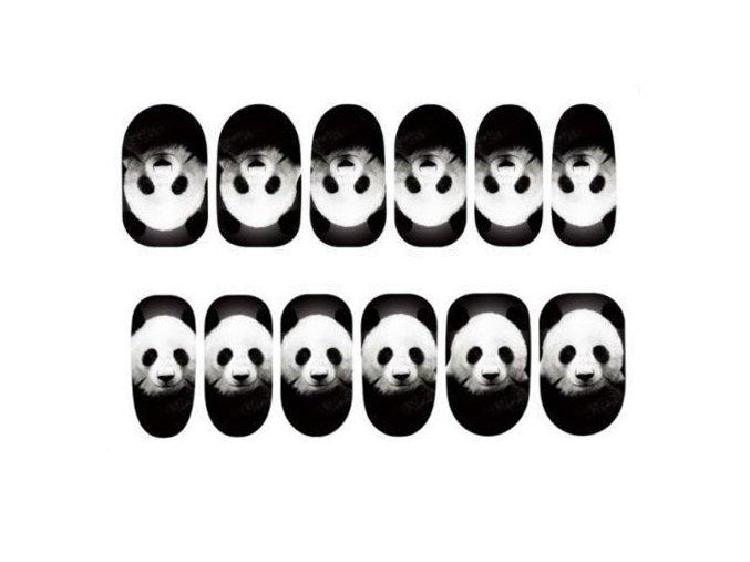 Nálepky na nechty Panda