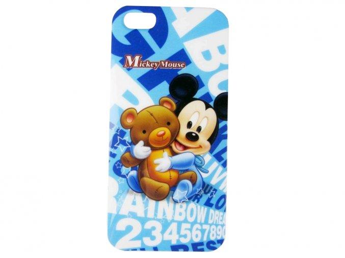 Apple Iphone 5 plastový ochranný kryt Mickey Mouse s macíkom