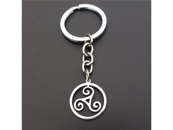 Teen Wolf Triskele Necklace Triskelion Allison Argent Keychains Stainless Steel Keyring.jpg 640x640