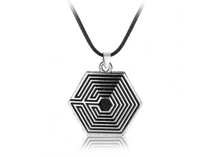 EXO Combination Team Spider Web Like Maze Singer Logo Necklace Runner font b Percy b font