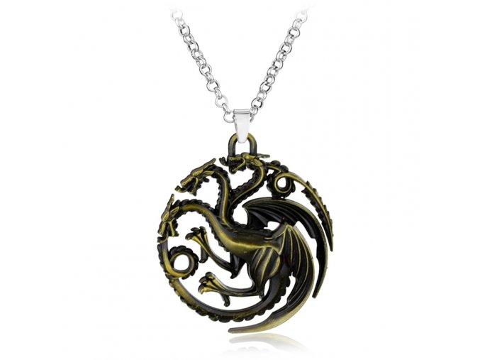 Targaryen Game of Thrones Dragon font b necklace b font font b Bronze b font Dragon
