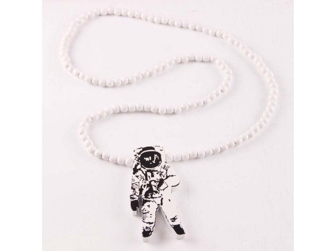 Astronauts Pendant Good Wood Hip Hop Casual NYC Necklace Wholesale 2 colors Mixed Jasw062