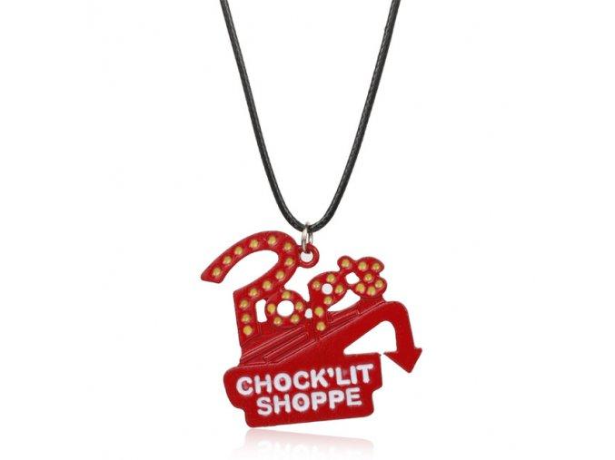 MQCHUN Riverdale TV Series Pop s Chock lit Shoppe Logo Necklace Red Enamel Metal Charm Pendant.jpg 640x640