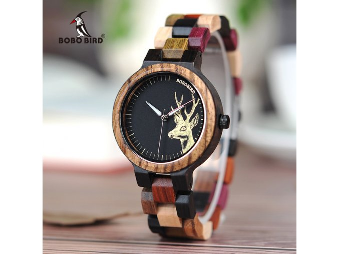 BOBO BIRD WP14 2 P14 3 Lovers Quartz Watches for Men Women Elk Dial Natural Wooden.jpg 640x640