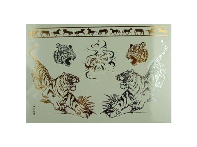 Metalické tetovanie Tiger AB-024