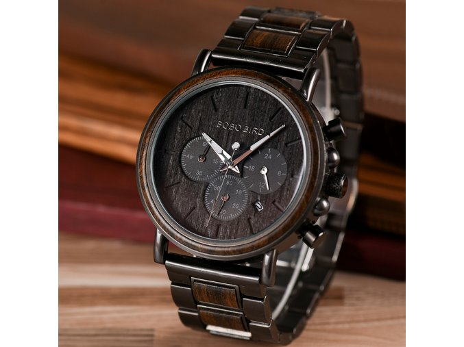 BOBO BIRD Wooden Men Watch Relogio Masculino Top Brand Luxury Chronograph Date Display Stop Watches erkek
