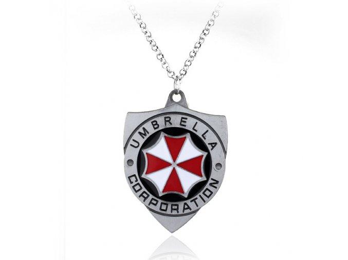 Resident Evil 2 Colors Umbrella Corporation Logo necklace pendant shield shape Hoder For Fans Unique Movie.jpg 640x640