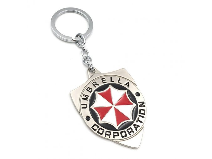 New Arrival Resident Evil Umbrella Corporation Logo Keychain Metal Alloy Key Rings Wholesale 10pcs lot Blister