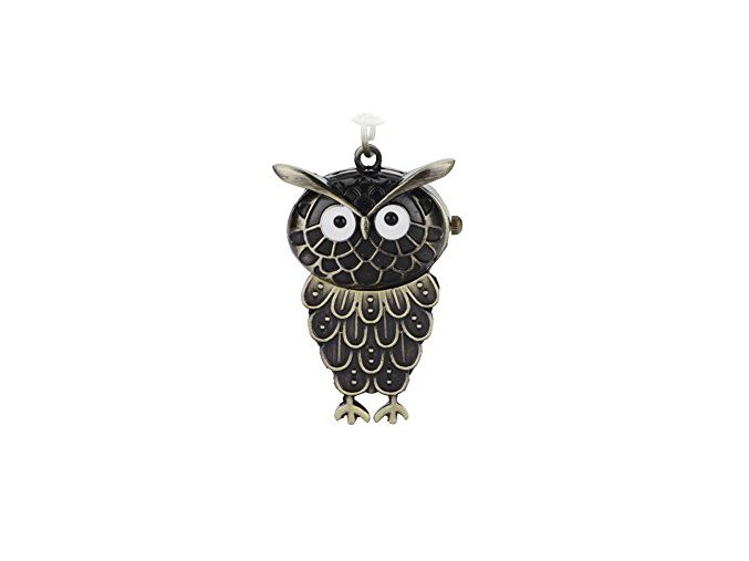 Vreckové hodinky sova bronzové