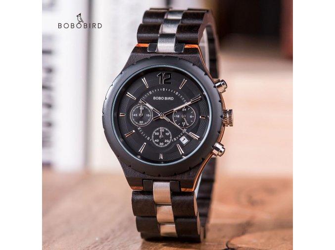 Bobo Bird - Náramkové hodinky drevené  BBU60