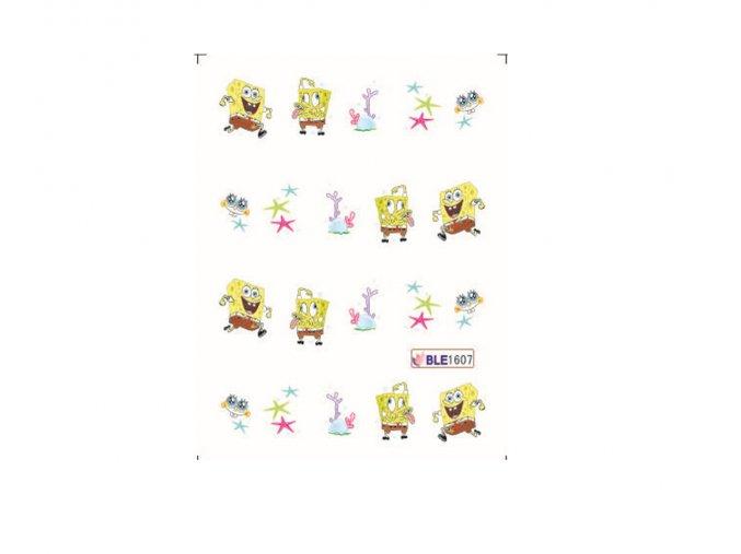 Nálepky na nechty Spongebob BLE 1607