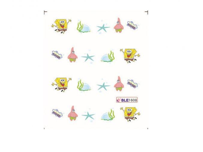 Nálepky na nechty Spongebob BLE 1608