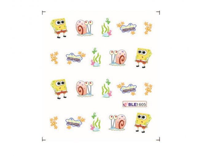 Nálepky na nechty Spongebob BLE 1605