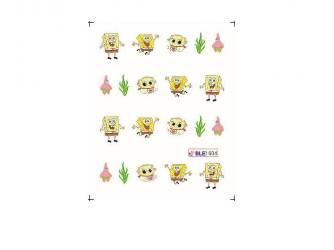 Nálepky na nechty Spongebob BLE 1604