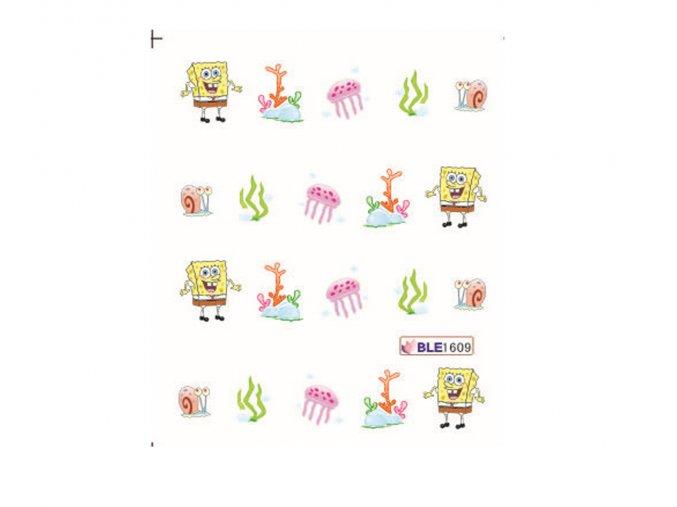 Nálepky na nechty Spongebob BLE 1609