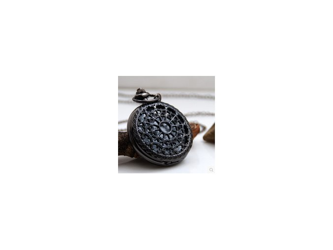 Vreckové hodinky Spider čierne