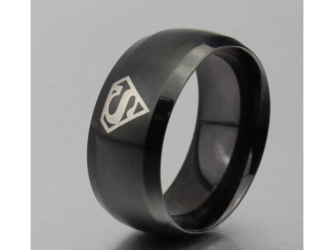 Prsteň Superman čierny