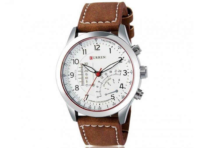 Curren pánske náramkové hodinky svetlohnedé
