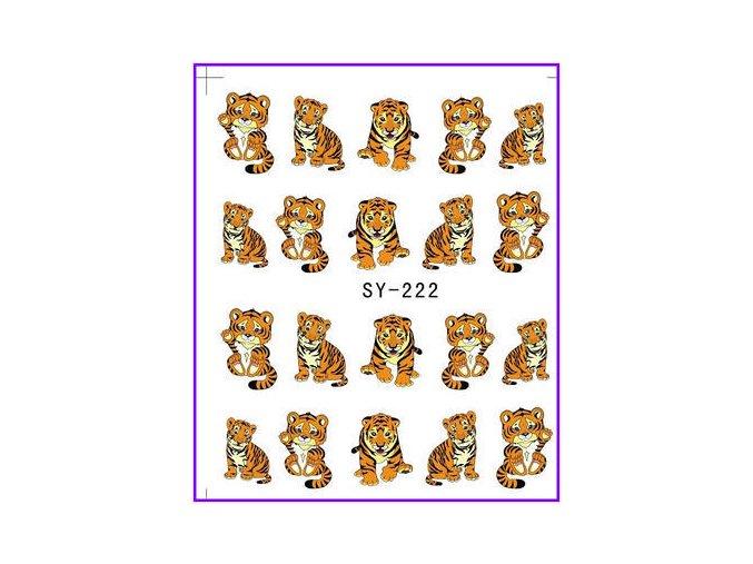 Nálepky na nechty 222 Tiger