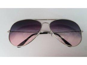 Slnečné okuliare fialovo - ružové