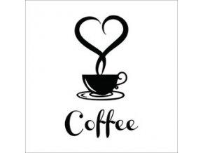 Nálepka na stenu Káva