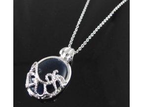 """""""Vampire Diares"""" náhrdelník kovový strieborný"""