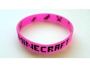 Náramok Minecraft ružový