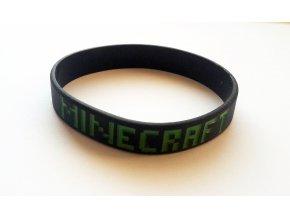 Náramok Minecraft čierny