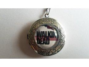 Otvárací medailón Walking Dead/ Živí,mrtví