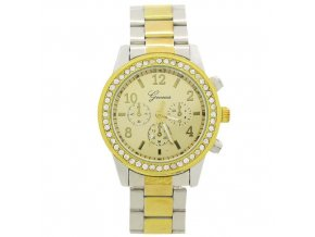 Geneva dámske náramkové hodinky strieborno-zlaté